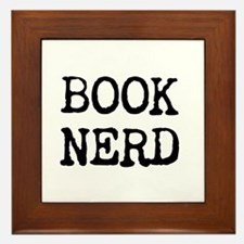 Book Nerd Framed Tile