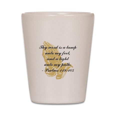 Inspirational Bible Quote Shot Glass