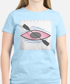 pink kayak on river T-Shirt