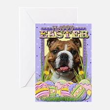Easter Egg Cookies - Bulldog Greeting Cards (Pk of
