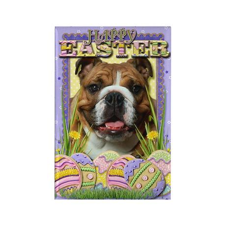Easter Egg Cookies - Bulldog Rectangle Magnet