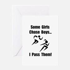 Run Pass Boys Greeting Card