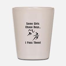 Run Pass Boys Shot Glass