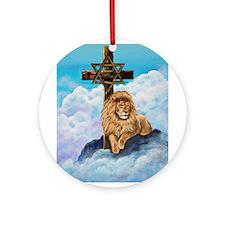 Cute Lion judah Ornament (Round)