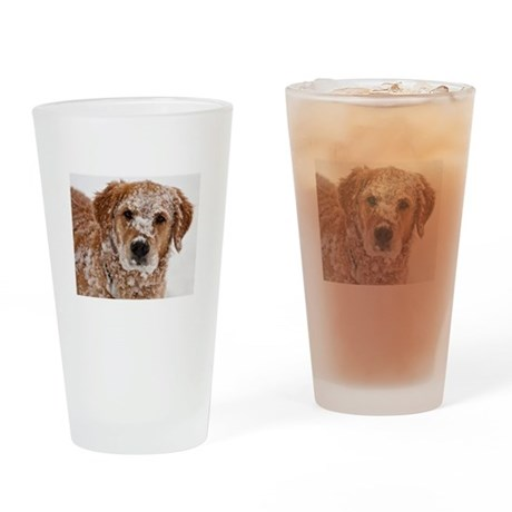 Golden Retriever 3 Drinking Glass