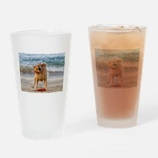 Golden Retriever 4 Drinking Glass