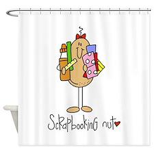 Scrapbooking Nut Shower Curtain