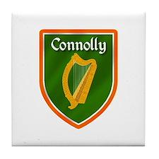 Connolly Family Crest Tile Coaster
