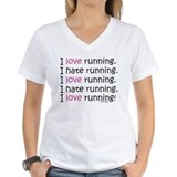 Running Womens V-Neck T-shirts
