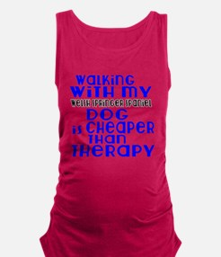 Walking With My Welsh Springer Maternity Tank Top