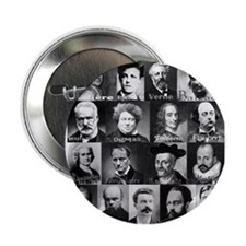 """French Lit Faces 2.25"""" Button"""