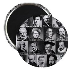 French Lit Faces Magnet