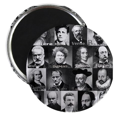 "French Lit Faces 2.25"" Magnet (10 pack)"