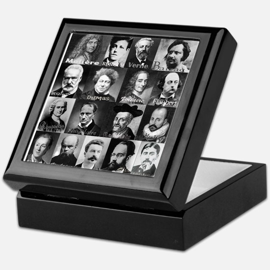 French Lit Faces Keepsake Box