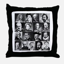 French Lit Faces Throw Pillow