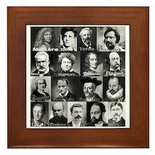 French Lit Faces Framed Tile