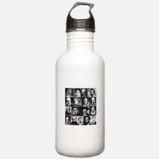 French Lit Faces Water Bottle