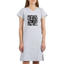 French Lit Faces Women's Nightshirt