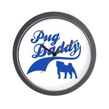 Pug Daddy Wall Clock