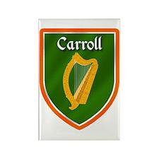 Carroll Family Crest Rectangle Magnet (10 pack)