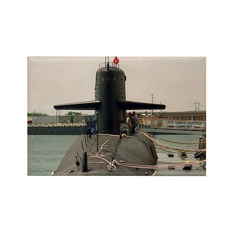 USS SIMON BOLIVAR Rectangle Magnet