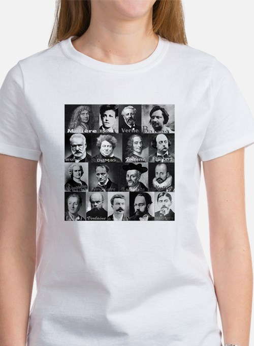 French Lit Faces Women's T-Shirt