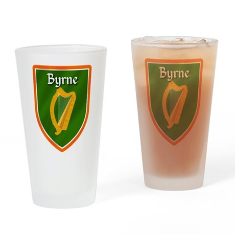 Byrne Family Crest Drinking Glass