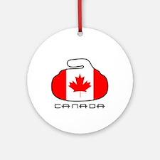 Canada Curling Ornament (Round)