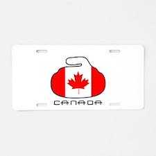 Canada Curling Aluminum License Plate