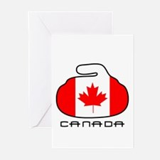 Canada Curling Greeting Cards (Pk of 20)