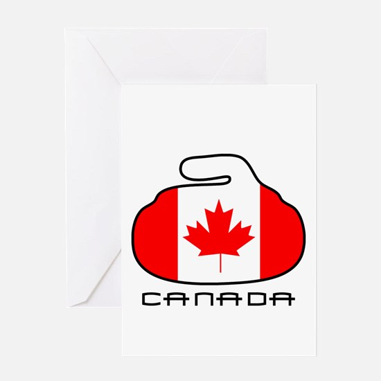 Canada Curling Greeting Card
