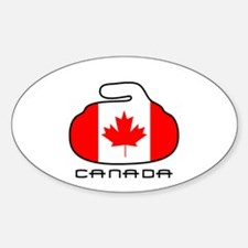 Canada Curling Sticker (Oval)