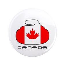 "Canada Curling 3.5"" Button"