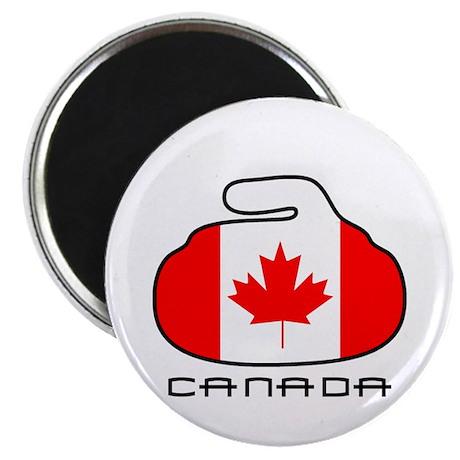 Canada Curling Magnet