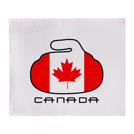 Canada Curling Throw Blanket