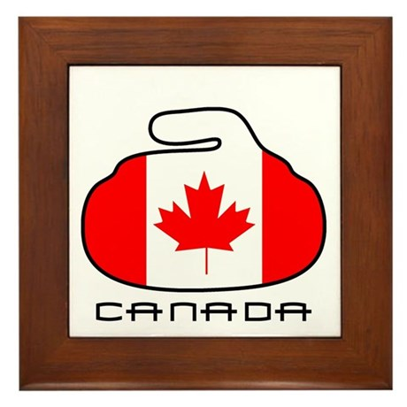 Canada Curling Framed Tile