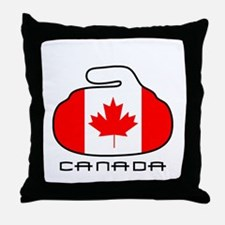 Canada Curling Throw Pillow