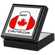 Canada Curling Keepsake Box