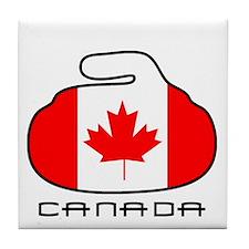 Canada Curling Tile Coaster
