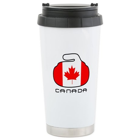 Canada Curling Stainless Steel Travel Mug