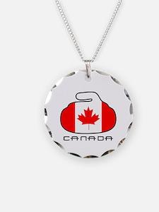 Canada Curling Necklace
