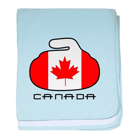 Canada Curling baby blanket