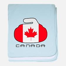 Canada Curling baby blanket