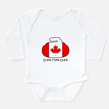 Canada Curling Long Sleeve Infant Bodysuit