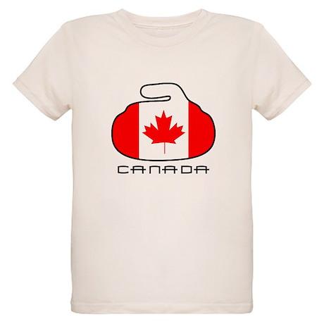 Canada Curling Organic Kids T-Shirt