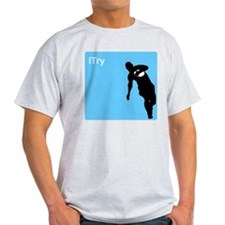 iTry_silh_blue T-Shirt