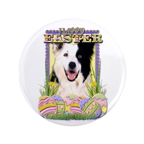 "Easter Egg Cookies - Border 3.5"" Button (100 pack)"