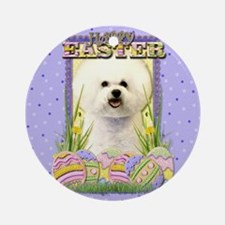 Easter Egg Cookies - Bichon Ornament (Round)
