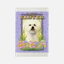 Easter Egg Cookies - Bichon Rectangle Magnet