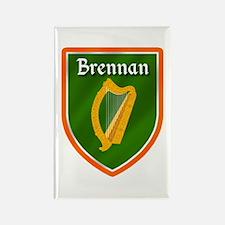 Brennan Family Crest Rectangle Magnet